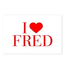 I love FRED-Bau red 500 Postcards (Package of 8)