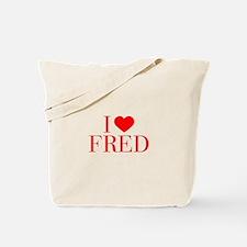 I love FRED-Bau red 500 Tote Bag