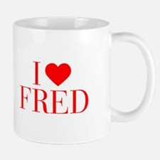 I love FRED-Bau red 500 Mugs