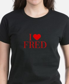 I love FRED-Bau red 500 T-Shirt