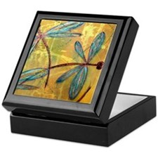 Dragonfly Golden Haze Keepsake Box