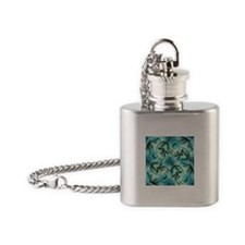 Dragonfly Cloud Flask Necklace