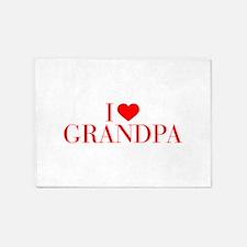 I love Grandpa-Bau red 500 5'x7'Area Rug