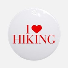 I love Hiking-Bau red 500 Ornament (Round)