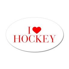 I love Hockey-Bau red 500 Wall Decal