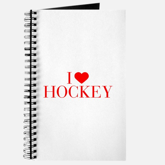 I love Hockey-Bau red 500 Journal