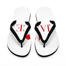 I love JANICE-Bau red 500 Flip Flops