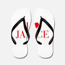 I love JANICE-Bau red 500 Flip Flops