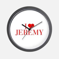I love JEREMY-Bau red 500 Wall Clock