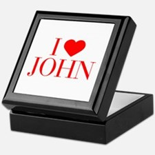 I love JOHN-Bau red 500 Keepsake Box