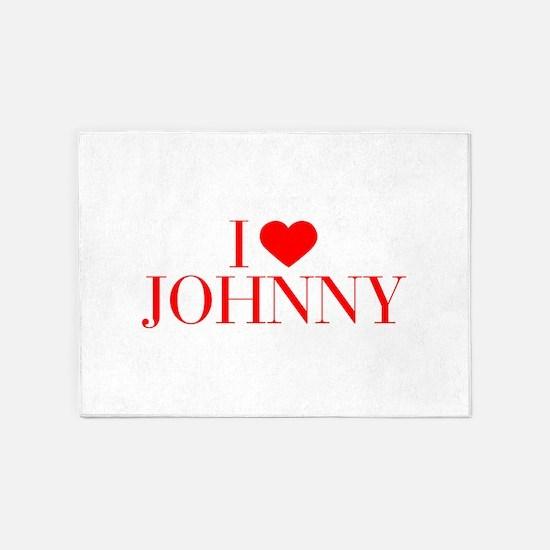 I love JOHNNY-Bau red 500 5'x7'Area Rug