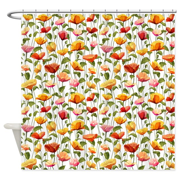 fragile stand shower curtain by patternshoppe