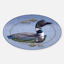 Commom Loon Oval Decal