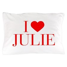 I love JULIE-Bau red 500 Pillow Case