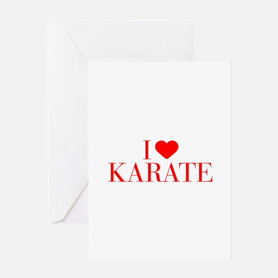 I love Karate-Bau red 500 Greeting Cards