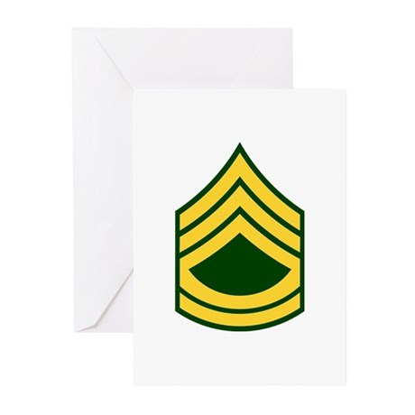 "Army E7 ""Class A's"" Greeting Cards (Pk of 10)"