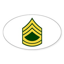 "Army E7 ""Class A's"" Oval Decal"