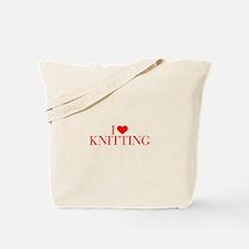 I love Knitting-Bau red 500 Tote Bag