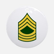 """Army E8 """"Class A's"""" Ornament (Round)"""