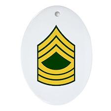 """Army E8 """"Class A's"""" Oval Ornament"""