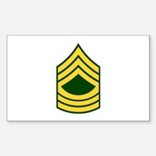 "Army E8 ""Class A's"" Rectangle Decal"