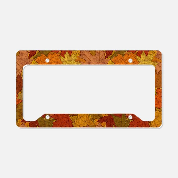 Fall Token License Plate Holder