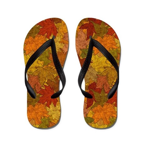 fall token flip flops by patternshoppe. Black Bedroom Furniture Sets. Home Design Ideas