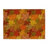 Fall leaves 5x7 Rugs