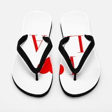 I love LISA-Bau red 500 Flip Flops