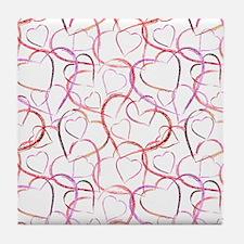 Empty Hearts Tile Coaster