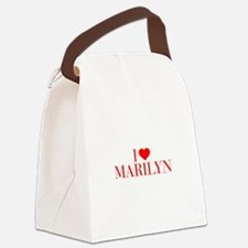 I love MARILYN-Bau red 500 Canvas Lunch Bag