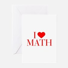 I love Math-Bau red 500 Greeting Cards