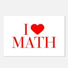 I love Math-Bau red 500 Postcards (Package of 8)