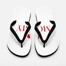 I love Mommy-Bau red 500 Flip Flops