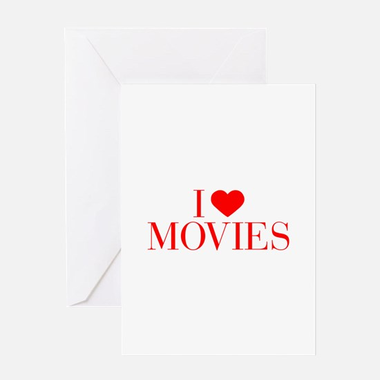 I love Movies-Bau red 500 Greeting Cards