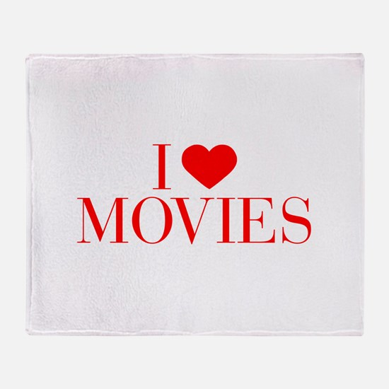 I love Movies-Bau red 500 Throw Blanket