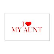 I love My Aunt-Bau red 500 Car Magnet 20 x 12