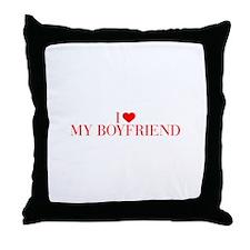 I love My Boyfriend-Bau red 500 Throw Pillow