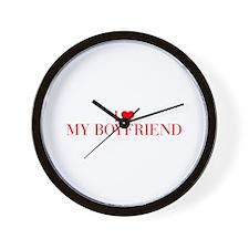 I love My Boyfriend-Bau red 500 Wall Clock