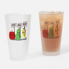 Eat More Meat Drinking Glass