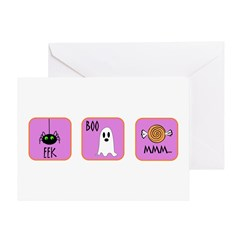 Eek, Boo, Mmm Halloween Greeting Card