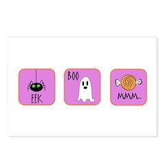 Eek, Boo, Mmm Halloween Postcards (Package of 8)