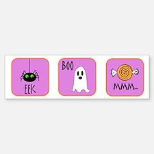 Eek, Boo, Mmm Halloween Bumper Bumper Bumper Sticker