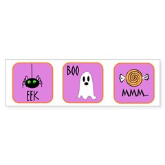 Eek, Boo, Mmm Halloween Bumper Bumper Sticker