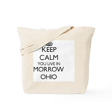 Keep calm you live in Morrow Ohio Tote Bag