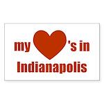 Indianapolis Rectangle Sticker