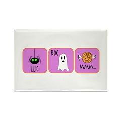 Eek, Boo, Mmm Halloween Rectangle Magnet