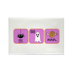 Eek, Boo, Mmm Halloween Rectangle Magnet (10 pack)
