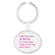 Strong Oval Keychain