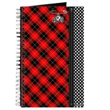 Red Punk Plaid Journal